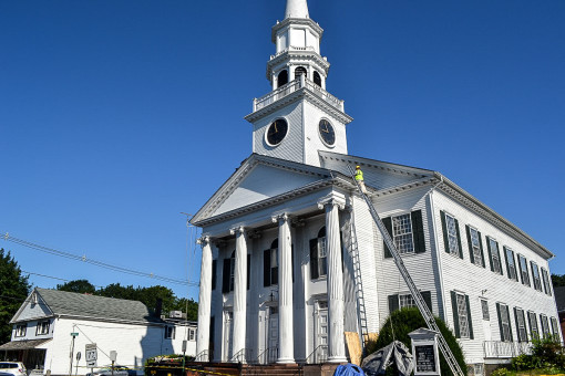 Architectural Shingle Installation for Guilford Congregational Church