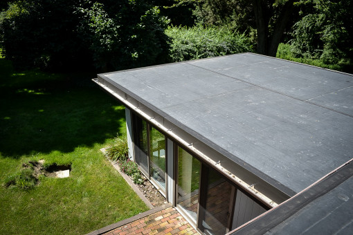 New Firestone Fully Adhered EPDM Membrane Roofing System for New Hartford Home