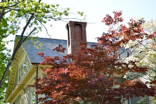 Orange St., CT Restoration Using Synthetic Rubber Slates & Copper Gutters & Flashings