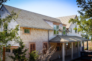 Red Cedar Tapersawn Wood Roofing System installed on a Guilford home
