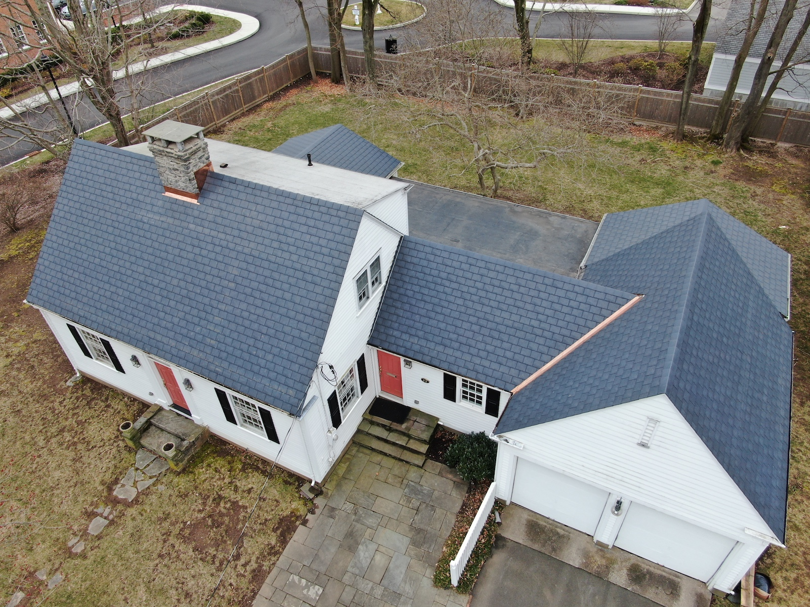 Synthetic Slate on Guilford, CT farmhouse