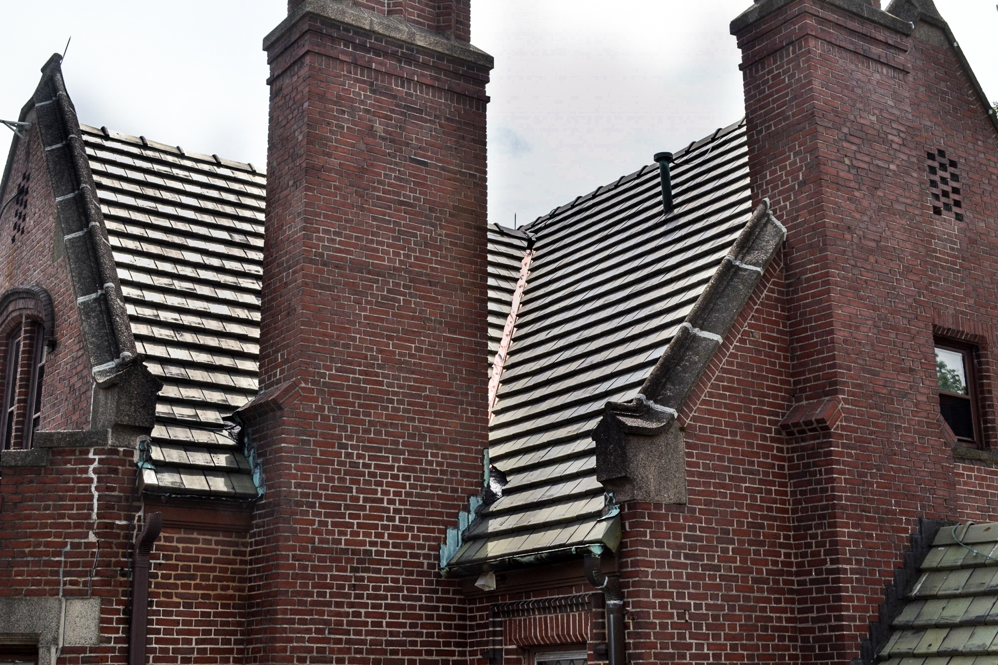 Bethesda Lutheran Church Asked Ct Roofcrafters To Design A Plan For Substantial Roof Repairs On The Mansion And School Roofs This Included Masonry