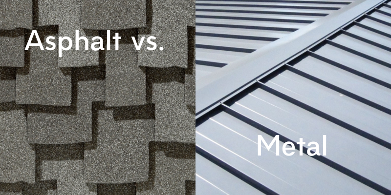 Asphalt vs Metal Roof Weight