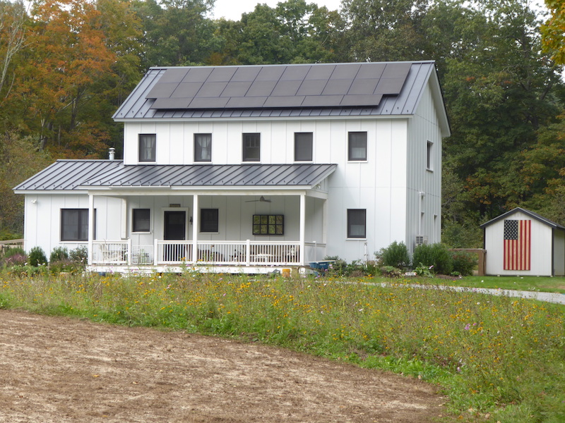 CRC Metal - Easton, CT - Front with Solar Panels Lo-Res