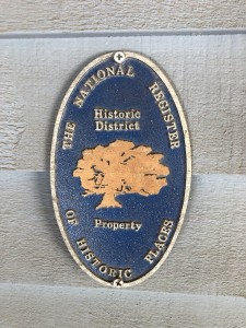 National Register of Historic Buildings Placard