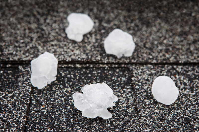 Hail Damage – Emergency Inspection and Repair
