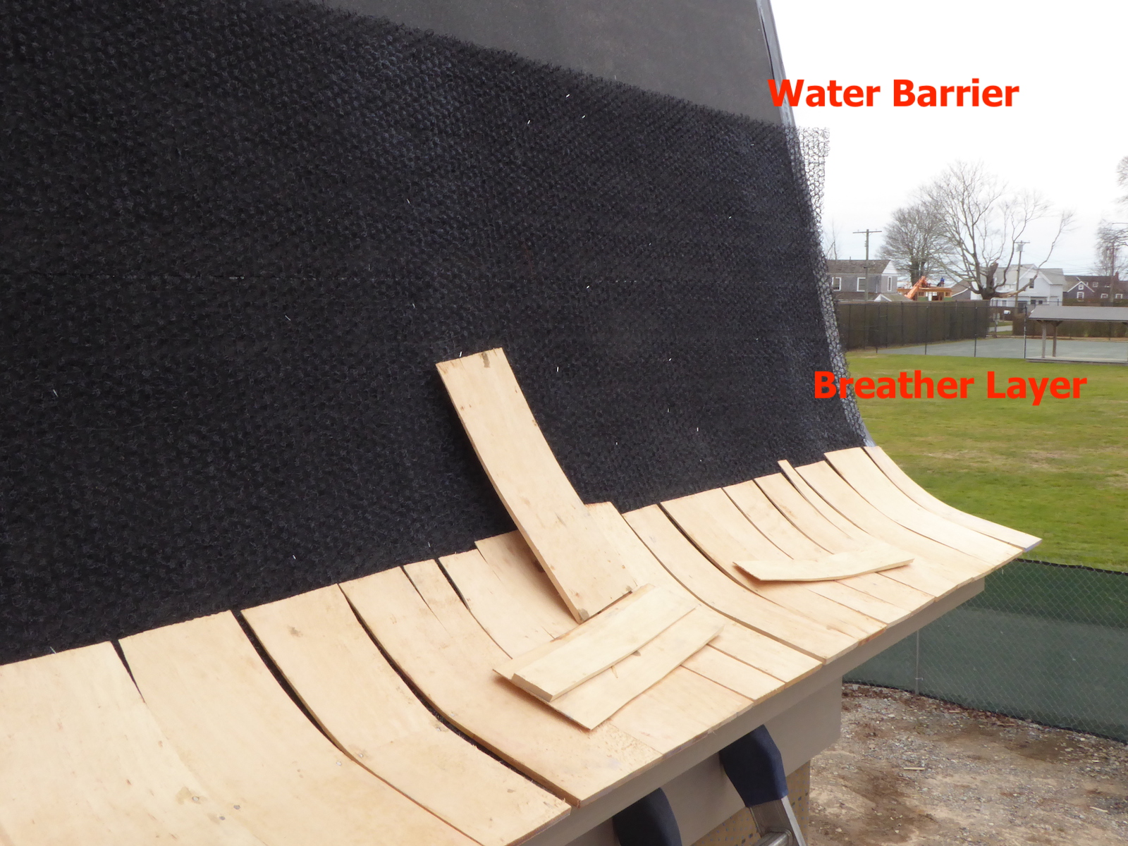Depiction of Breather Layer and Water barrier Layer