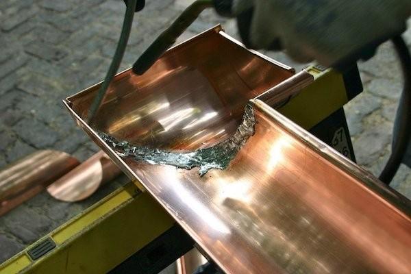 Copper Gutter Soldering