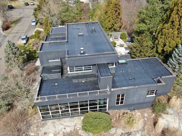 EPDM Membrane Roof on Branford, CT Residence