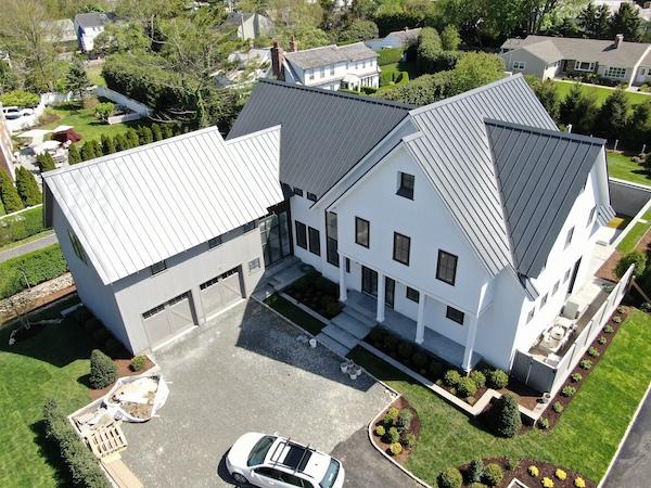 Aluminum Standing-Seam Roof on Westport, CT Beach Residence
