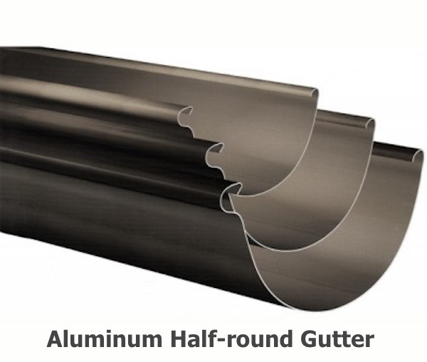 Aluminum Half-round Gutter