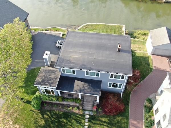 EPDM Membrane Roof on Branford, CT Shore Residence