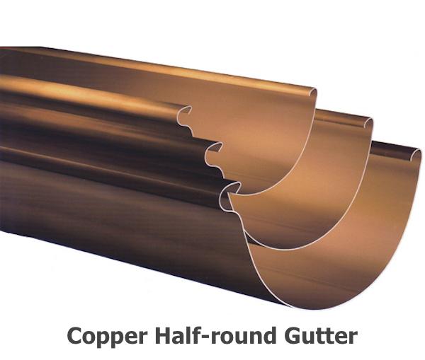 Copper Half-round Gutter