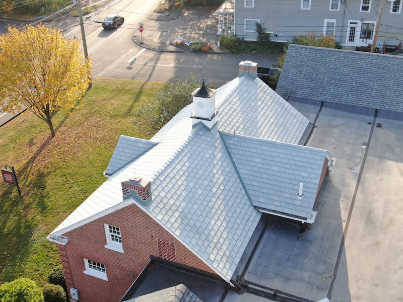 Synthetic Slate Installation on a Guilford, CT Farmhouse